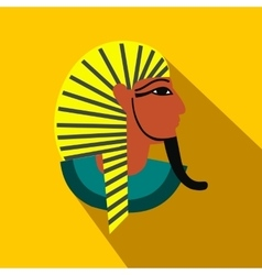 Egyptian pharaoh icon flat style vector image vector image