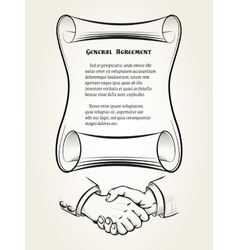 General agreement vector image