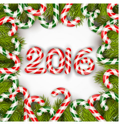 happy new year 2016 with concept lollipops vector image vector image