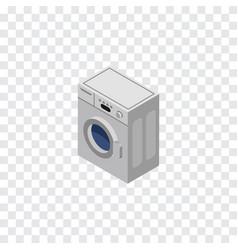 isolated washing machine isometric laundry vector image