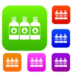 printer ink bottles set collection vector image