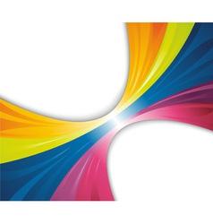 rainbow wave banner vector image vector image