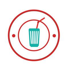Soda glass isolated icon vector