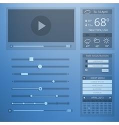 UI transparency flat design of web elements vector image vector image