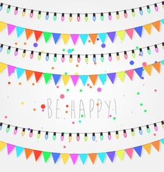 Birthday holiday festival decoration outdoor vector image