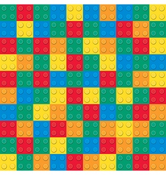 Building toy bricks pattern vector image