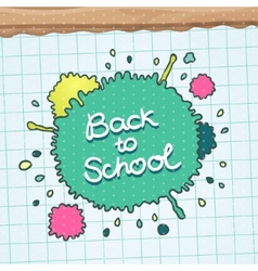 Cute Back to school background vector image