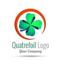 Saint patrick quatrefoil luck symbol business vector