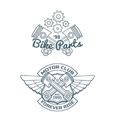 Set of biker badges vector image