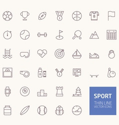 Sport Outline Icons for web and mobile apps vector image vector image