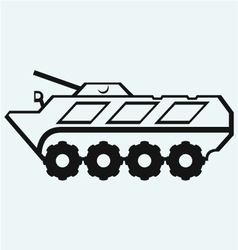 Wheeled armoured personnel carrier vector image