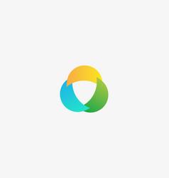 abstract swirl logo design universal vector image