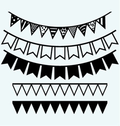 Bunting and garland vector image