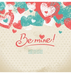 Card of Valentines day vector image vector image