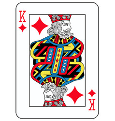 king of diamonds french version vector image vector image