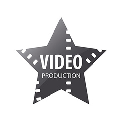logo video shooting star vector image