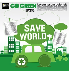 Save world concept EPS10 vector image vector image