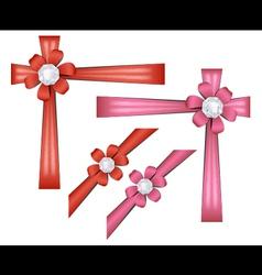 Set of gift ribbons vector image vector image