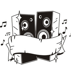 speakers tattoo vector image