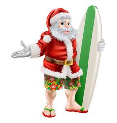 Surf santa vector