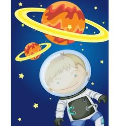 Astronaut in space vector image