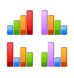 Business graph growth progress vector image vector image