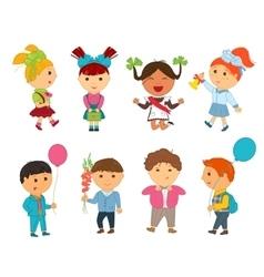 Cartoon kids back to school vector image vector image