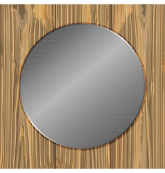 circle on a planks vector image vector image