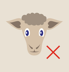 Flat sheep to fall asleep vector