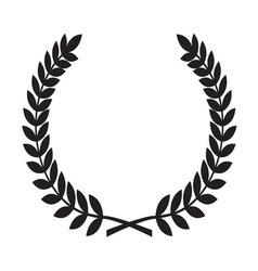 Laurel Wreath icon1 resize vector image vector image