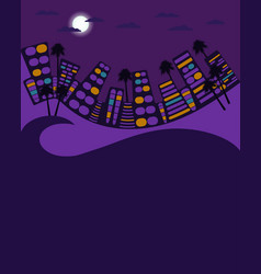 night city in the style of 80s city landscape vector image vector image