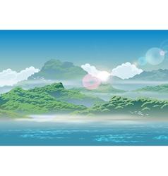 overgrown coast vector image vector image