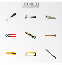 Realistic claw sharpener tongs and other vector