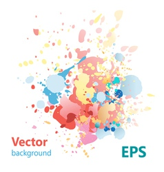 abstract background with colorful splashes vector image