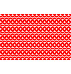 abstract pattern white net on red vector image