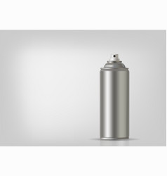 aerosol spray on grey background vector image