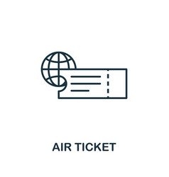 air ticket outline icon thin line concept element vector image