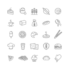 bakery icons stock vector image