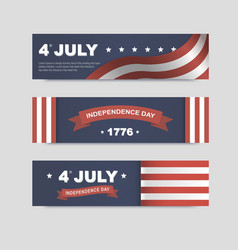 banners for independence day america vector image