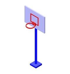 Basketball backboard icon isometric style vector