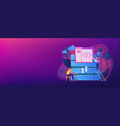 big data developer header banner vector image