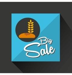 Big sale concept bread bakery graphic vector