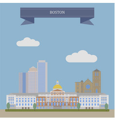 boston the capital of massachusetts vector image
