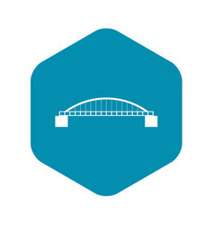 bridge icon simple style vector image