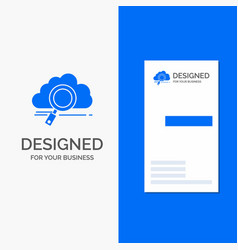 business logo for cloud search storage technology vector image