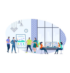 business training staff with coach in office vector image