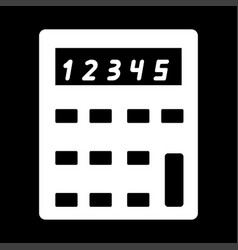 Calculator the white color icon vector