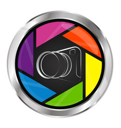 camera unique symbol vector image