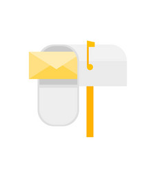 cartoon mail box post sign isolated on a white vector image