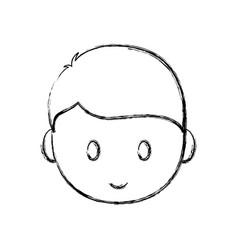 Cartoon man face icon vector